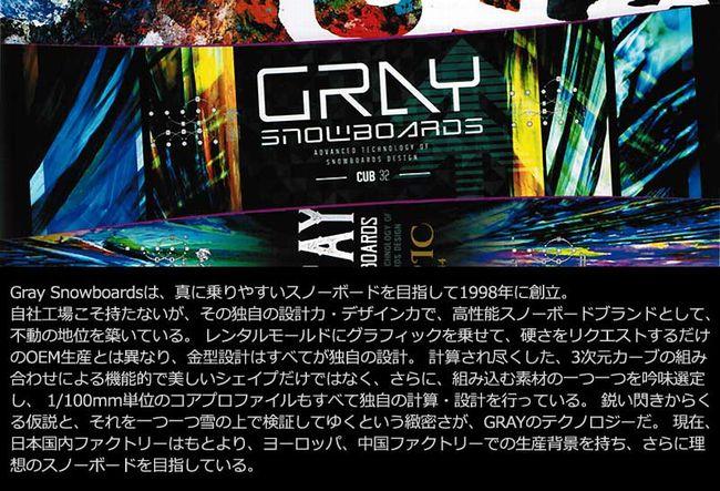 18-19年モデル Gray Snowboard(グレイ)の予約購入は?
